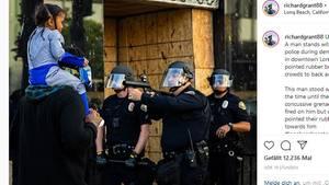 Polizist Kind Gewehr