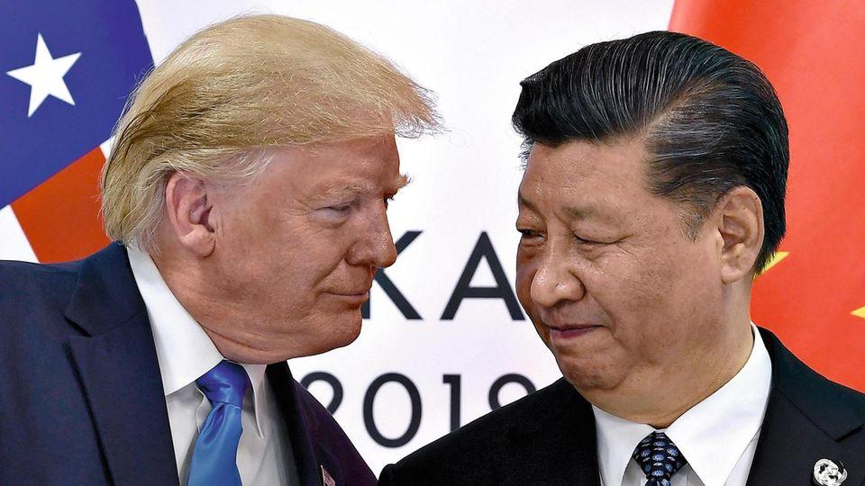 US-Präsident Trump und Chinas Staatschef Xi Jinping