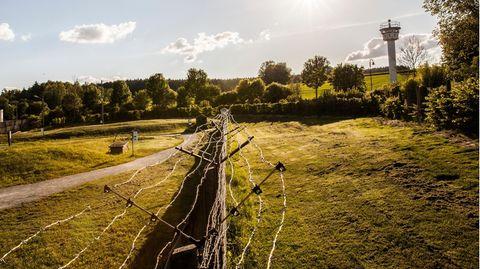 Die ehemalige Grenze zwischen Bayern und Thueringen
