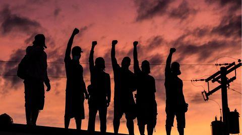 Demonstranten in Minneapolis (US-Bundesstaat Minnesota)