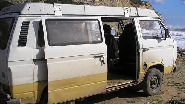 Das von Bundeskriminalamt (BKA) zur Verfügung gestellte Bild zeigt einen Caravan vom Typ VW T3 Westfalia