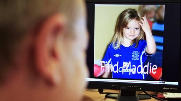 """Ein Bild des vor gut 13 Jahren verschwundenen britischen Mädchens Madeleine """"Maddie"""" McCann"""