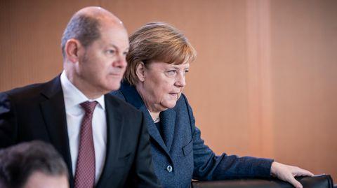 Bundesfinanzminister Olaf Scholz (SPD) und Bundeskanzlerin Angela Merkel (CDU)