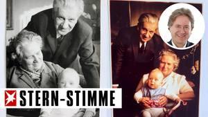 Aus dem Familienalbum: Baby Frank mit seinen GroßelternHanne undFritz Behrendt,die über 50 Jahre lang gemeinsam glücklich durchs Leben gingen