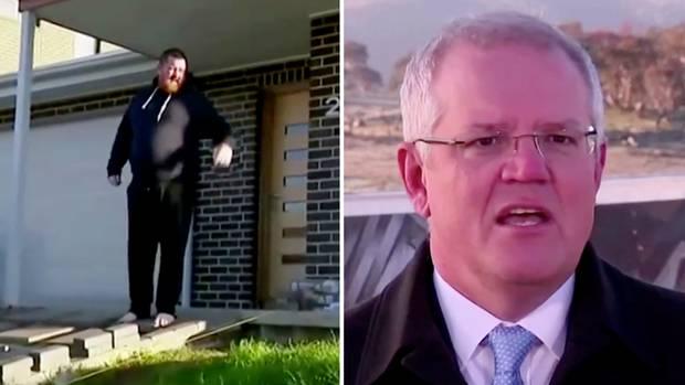 """""""Runter vom Rasen!"""" –Mann scheucht australischen Premier aus seinem Garten"""