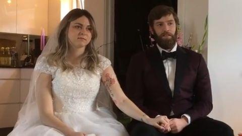 Anne und ihr Ehemann Franz bei der Hochzeit vor wenigen Wochen