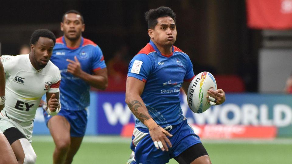 Da war noch alles Ordnung: Samoas Melani Matavao in einem Spiel gegen die USA in Vancouver im vergangenen März