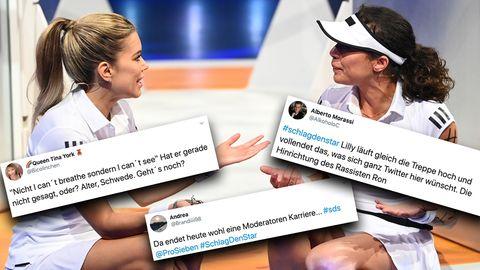 """Sylvie Meis und Lilly Becker kämpften bei """"Schlag den Star"""" auf ProSieben um den Sieg."""