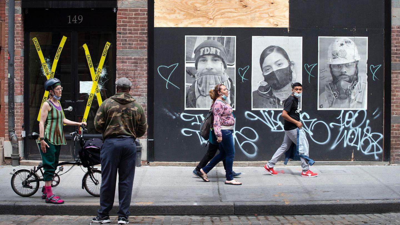 Passanten in New York