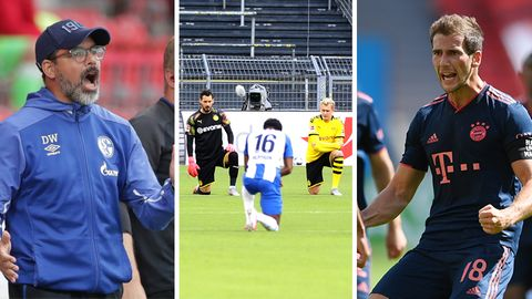 Schalke-Trainer David Wagner, Roman Bürki, Julian Brandt