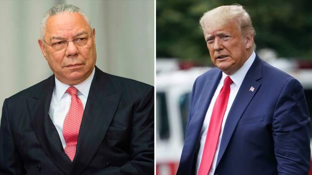 Colin Powell (l.), früherer US-Außenminister, und US-Präsident Donald Trump