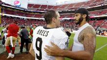 Drew Brees und Colin Kaepernick