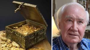 Links: Von Forrest Fenn veröffentlichtes Bild der Schatztruhe, rechts: Forrest Fenn