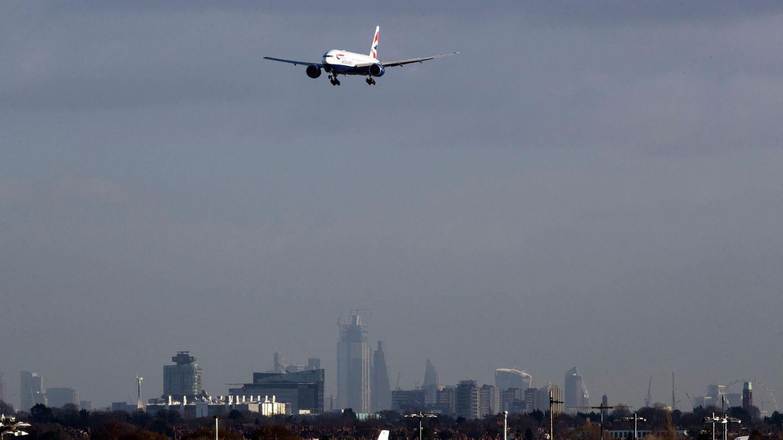 Flugzeug über London