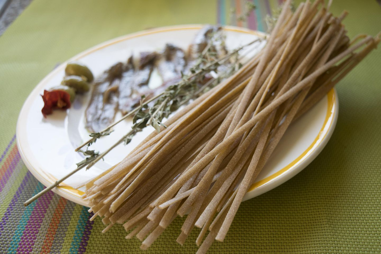 Teller mit Stroncatura Pasta