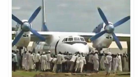 Die Antonow An-24 derSouth Sudan Supreme Airlines