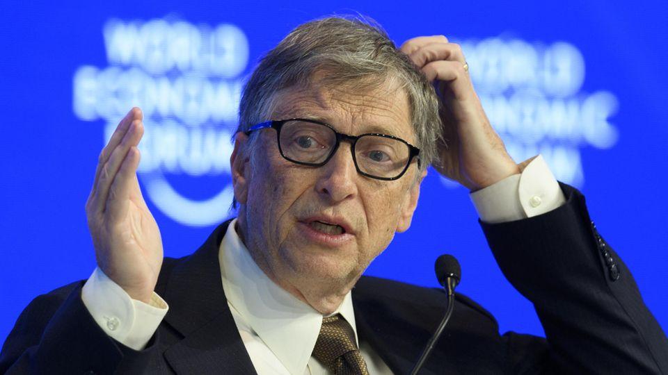 Milliardär und Philanthrop Bill Gates kann die Verschwörungstheorie zu Corona nicht ganz nachvollziehen