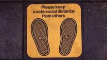Social Distancing Zeichen