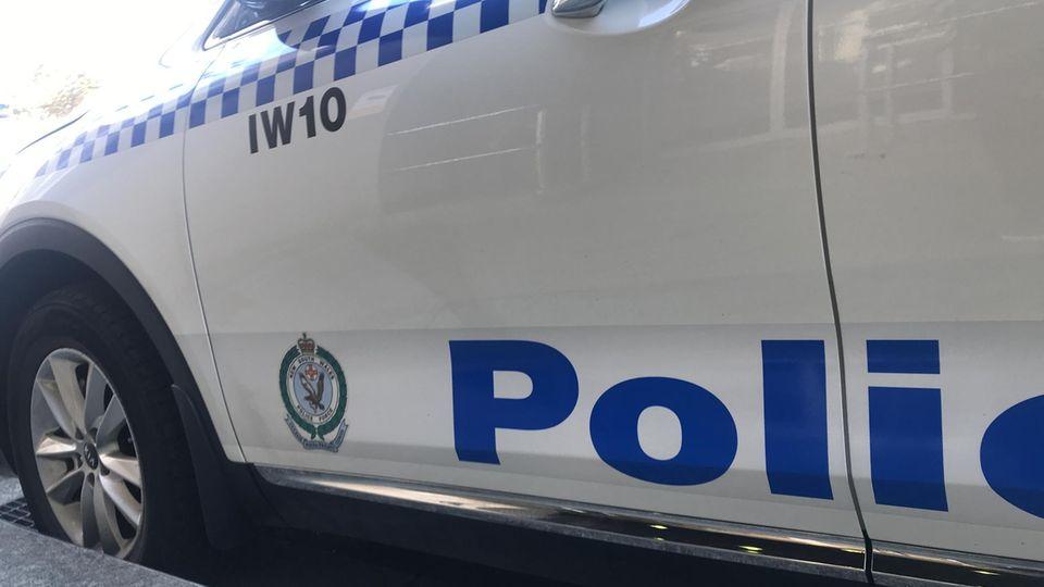 Ein Polizeiauto in Australien