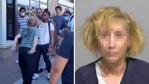Bei Protesten in den USA: Frau spuckt schwarzen Teenager ins Gesicht