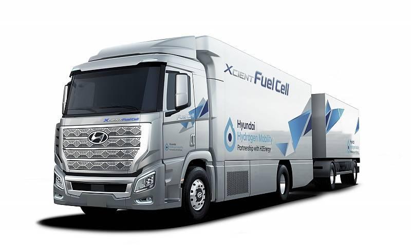 Bis zum Jahr 2025 sollen 1.600 Hyundai H2 Xcient Lkw mit Brennstoffzellenantrieb auf Schweizer Straßen rollen