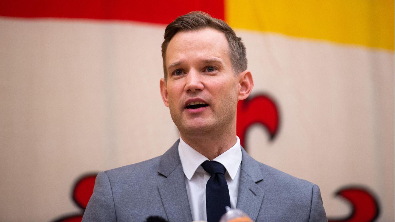 Virologe Hendrik Streeck im März auf einer Pressekonferenz zum Coronavirus