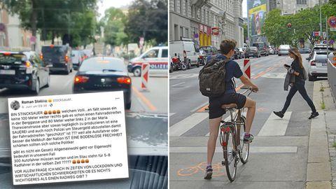 Wien: Autofahrer platzt wegen Pop-up-Radweg der Kragen