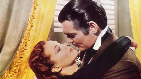 """Eine Szene aus """"Vom Winde verweht"""" mit Clark Gable und Vivien Leigh"""
