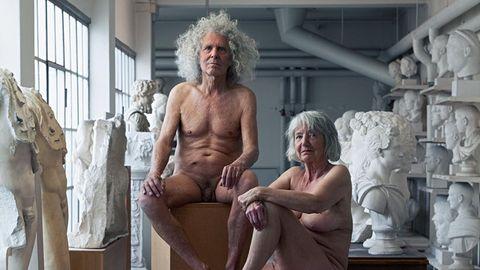 Aktfotos mit 80: Rainer Langhans (79) und Mitstreiterin Christa Ritter (78) inszeniert von Fotokünstler Simon Lohmeyer