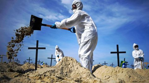 Brasilien: Copacabana-Strand wird Friedhof für Corona-Tote