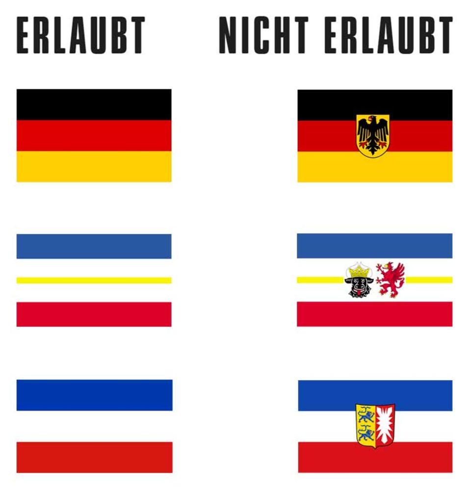 Fahne rot mit gelben stern