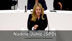 SPD-Politikerin Nadine Julitz im Landtag Mecklenburg-Vorpommern