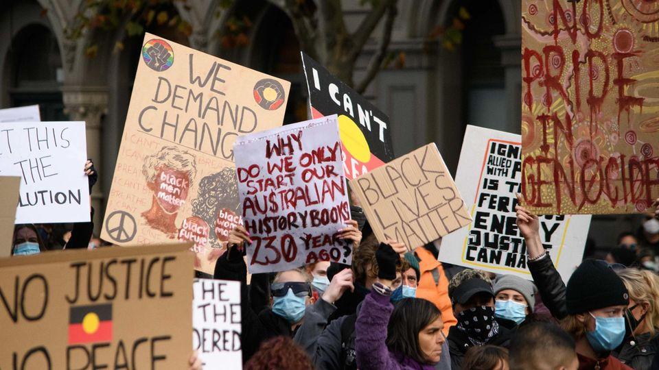 """Coronavirus-Fall bei """"Black Lives Matter""""-Demonstration in Melbourne"""