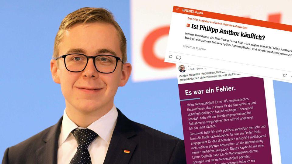 CDU-Bundestagsabgeordneter Philipp Amthor; Screenshots