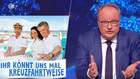 """In der """"heute show"""" vom 12. Juni 2020 stellt Oliver Welke eine Minifolge der Serie """"Das Traumschiff"""" vor"""