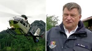 Nach Unwetter: Wanderer mit Hubschrauber von Berghütte evakuiert