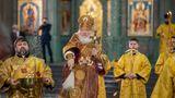 Im Beisein der russischen Militärführung hat der orthodoxe Patriarch Kirill zum 75. Jahrestag des Sieges über den Hitlerfaschismus die neue Hauptkirche der Streitkräfte eingeweiht.