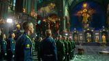 """Die """"Kirche des Sieges"""" ist nun Russlands drittgrößte Kathedrale. Mit einer fast 100 Meter hohen goldenen Hauptkuppel soll sie nach offiziellen Angaben rund 6000 Menschen Platz bieten."""