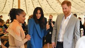 Doria Ragland mit Meghan und Harry