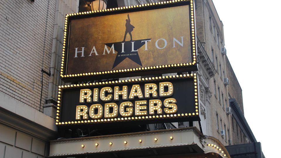 "Musical-Plakat ""Hamilton"""