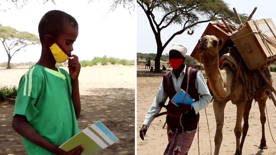 Bildung auf vier Beinen: Kamel-Bibliothek bringt Bücher zu Dorfkindern