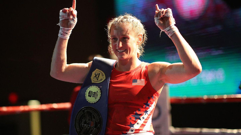 Virginia Fuchs nach einem Sieg in Lake Charles, Lousiana