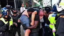 Schwarzer Aktivist Patrick Hutchinson rettet rechten Demonstranten