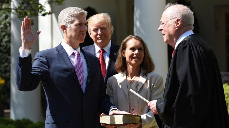 Neil Gorsuch wurde im April 2017 von Trump an den Obersten Gerichtshof berufen