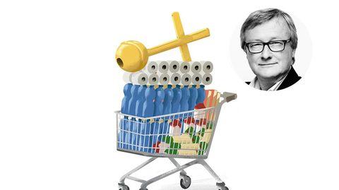 Illustration eines Einkaufswagens
