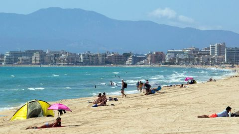 Noch nie war es Mitte Juni so leer an der Plajade Palma auf Mallorca