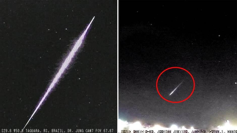 Feuerball über Brasilien: Meteorit glüht auf