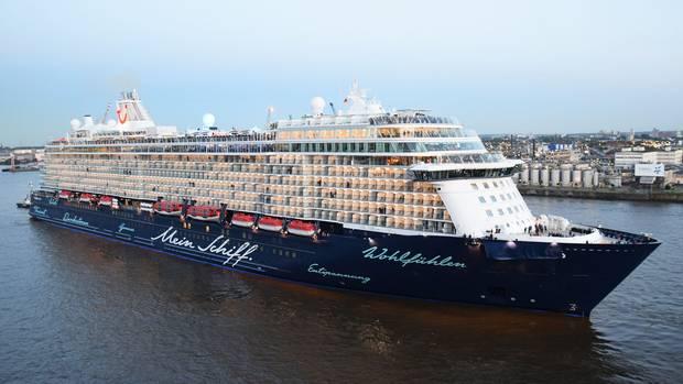 Eines der sieben Schiffe von Tui Cruises: Vor Anfang Augustwird kein Schiff der Reederei mit Passagieren zu Reisen ablegen.