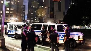 Beamte der New Yorker Polizei bei einem Einsatz