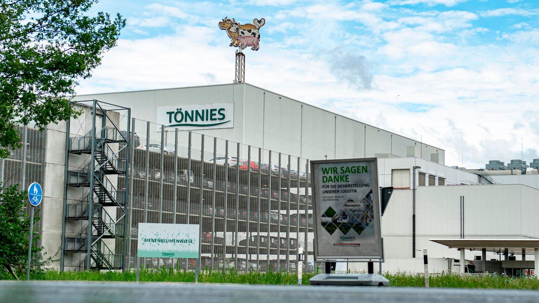 Außenansicht des Firmengeländes vom Fleischwerk Tönnies in Rheda-Wiedenbrück